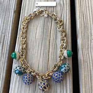 Ann Taylor BNWT Chunky Crystal Beaded Necklace!